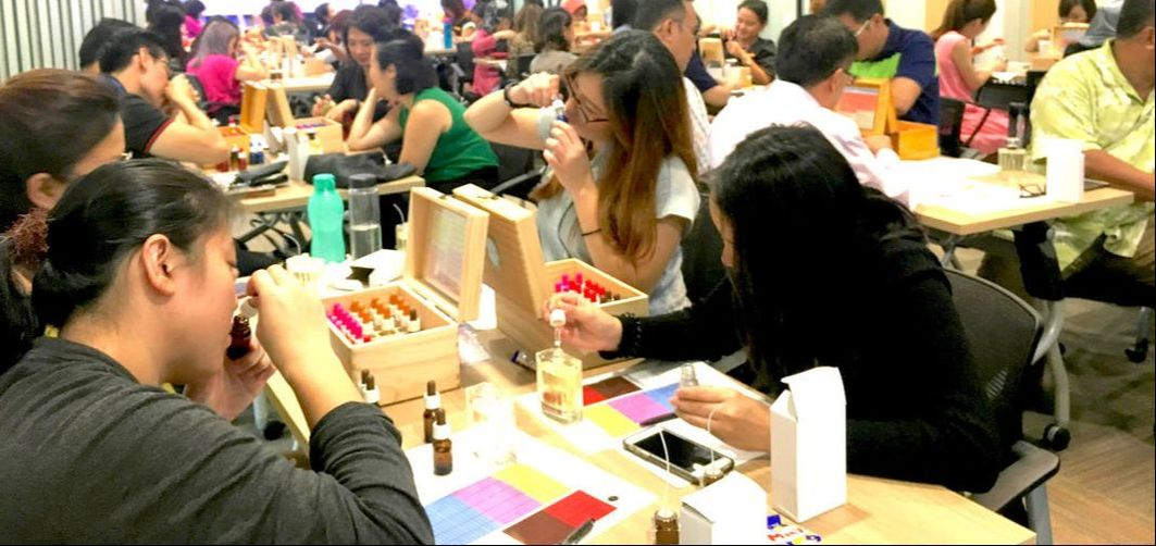 indoor perfume team bonding funa creative activity singapore