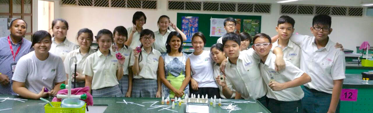 practical application of Biology for Singaporean school taught via perfumery